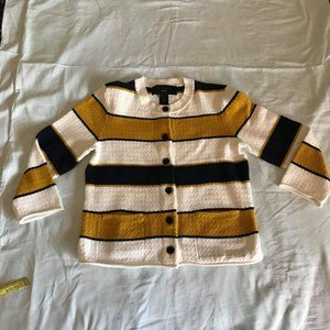 Ann Taylor Factory Striped Cardigan/Jacket